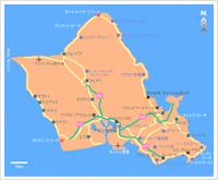 オアフ島一周観光(8時間程度)